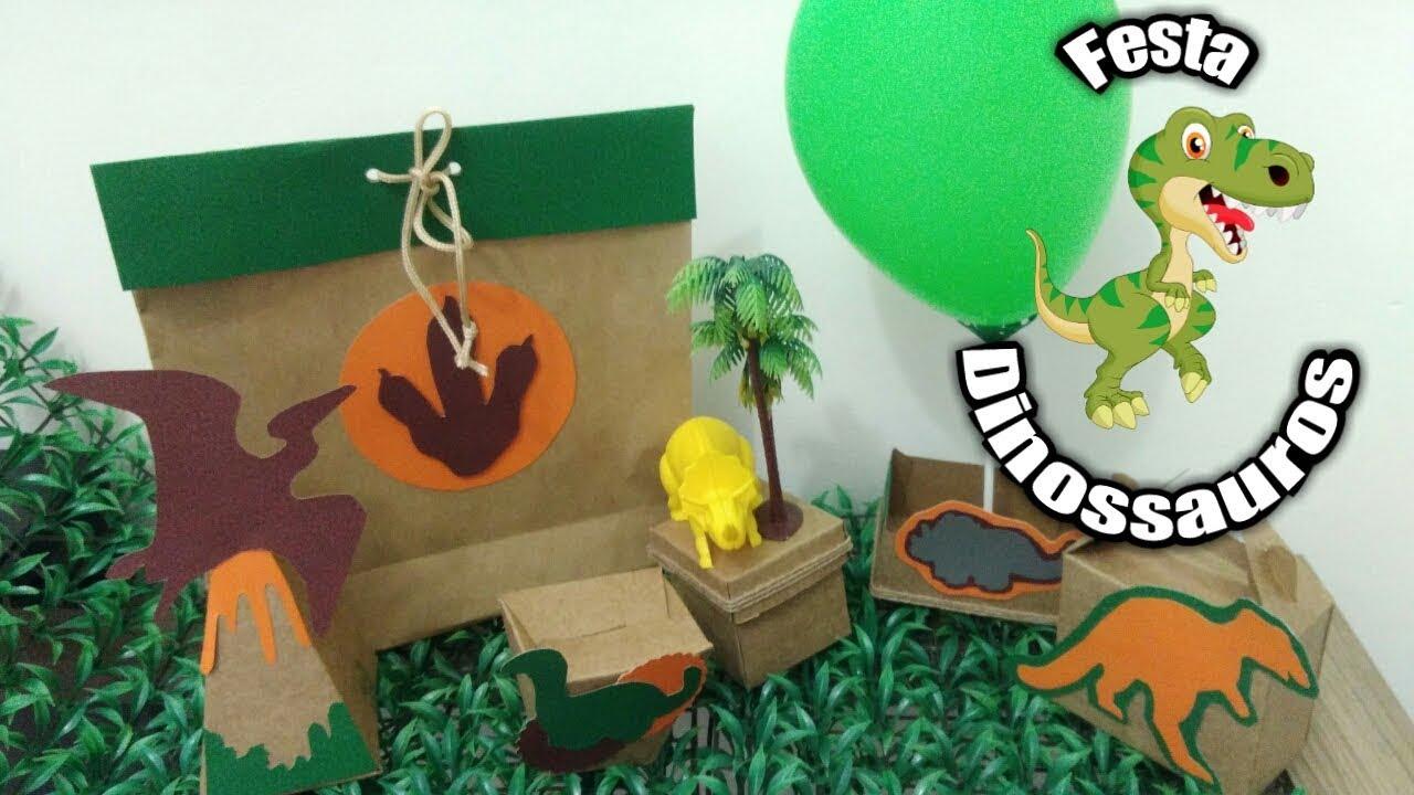 Kit Festa Dinossauro Em Papel Para 15 Criancas Gastando R 55
