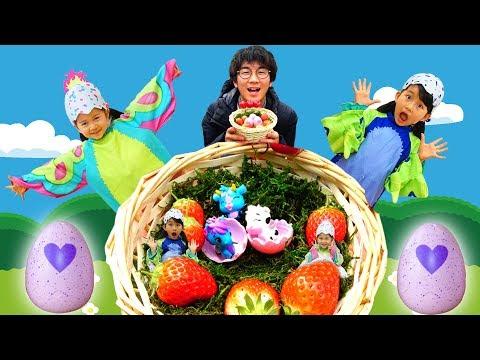 福島でウーモミニを探せ!!よっちとイチゴ狩り&温泉☆himawari-CH