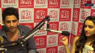 Shraddha Kapoor and Siddharth Malhotra in Rapid Fire with RJ Malishka