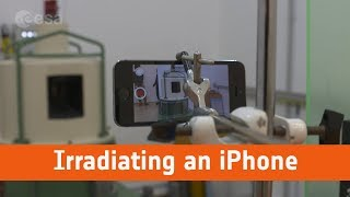 Irradiating an iPhone