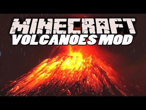 Minecraft Mods | VOLCANO MOD (Volcanoes, Elevators & More) | Mod Showcase