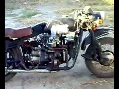 Мотоцикл с двигателем от ваз
