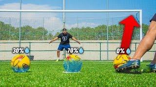 PENALTI SORPRESA *LLENAMOS el BALÓN de AGUA* ¡Retos de Fútbol!
