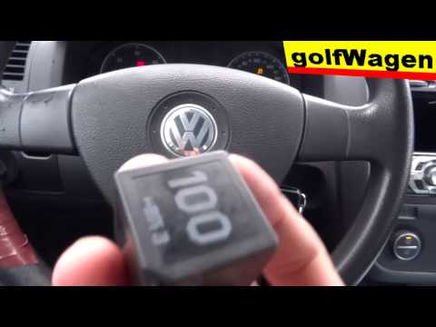 "Little about relay 100 glow plug, ""start relay"" VW Golf 5, 1.9 TDI /emergency caralarm immobiliser/"