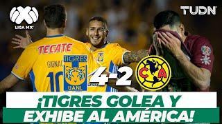 ¡Cómo fiera! Tigres destruye al América en el Volcán | Tigres 4-2 América CL-2017 | TUDN