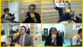 Gustavo Bolívar, Armando Benedetti, Luis Felioe Henao y Pacho Santos en entrevista con Vicky Dávila