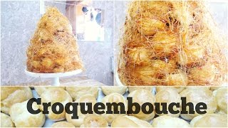 Croquembouche (Cream Puff Tree With Caramel Strings)