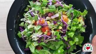 Vitalia healthy food – Витаминска салата со авокадо дресинг (glutenfree, vege)