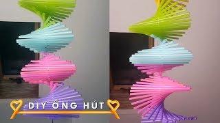 Cực đẹp - Cách làm dây treo xoắn ốc bằng ống hút đơn giản mà đẹp #DIY Ống Hút