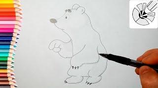 Как нарисовать медвежонка Умку карандашом - Рисование и раскраска для детей(Развивающее видео для детей. В этом видео я показываю как нарисовать медвежонка Умку карандашом - персонаж..., 2016-06-09T13:00:54.000Z)