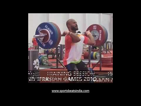 Weightlifter Sathish Sivalingam - Training Session at Asian Games 2018, Jakarta
