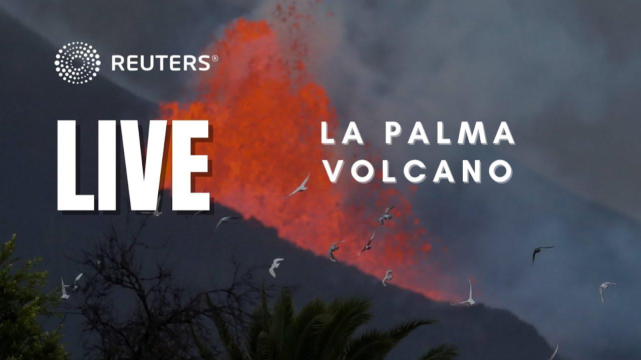 Download LIVE: Smoke rises above Spain's La Palma volcano as lava nears sea