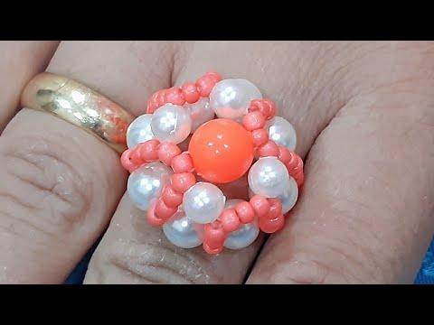 Кольцо из бисера Шапочка | Bead Ring Hat