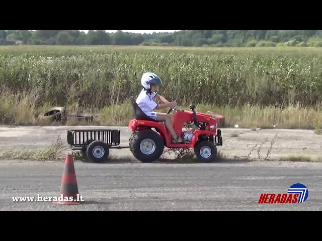 Vaikiškas traktorius su priekaba 110cc