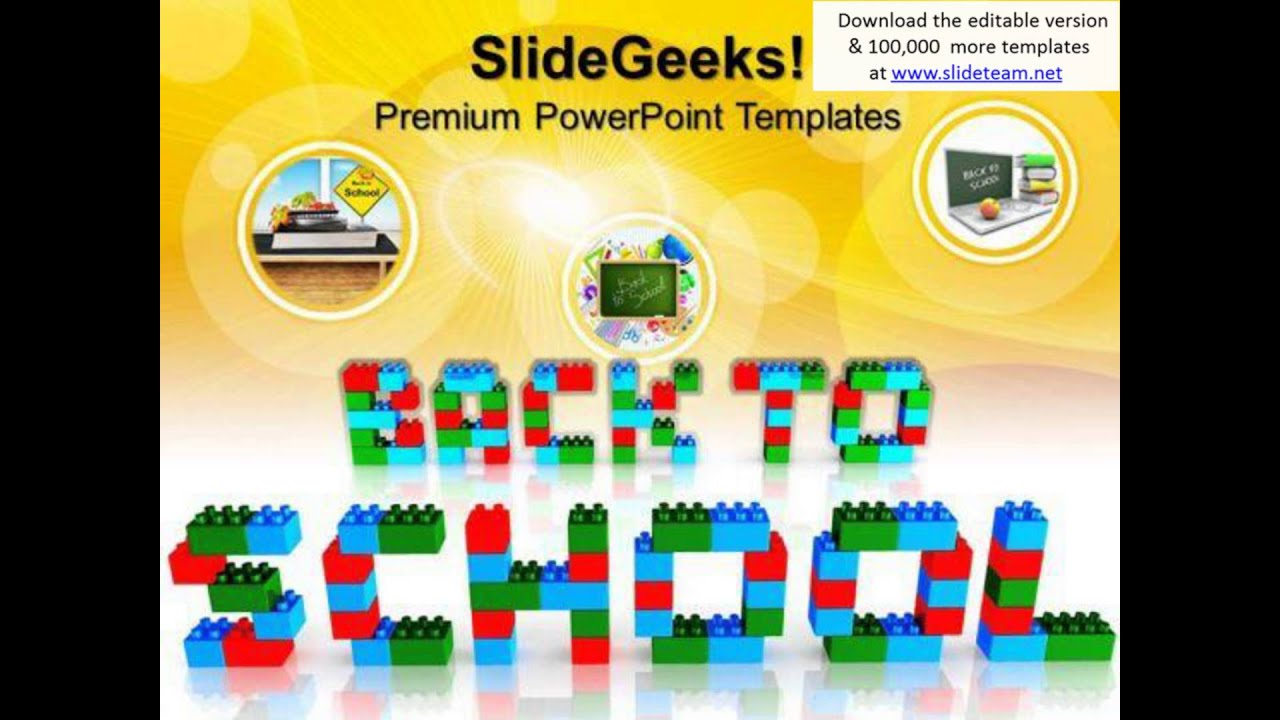 Back To School With Lego Blocks Game Powerpoint Templates And