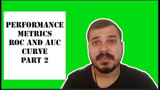 Tutorial 41-Performance Metrics(ROC,AUC Curve) For Classification Problem In Machine Learning Part 2