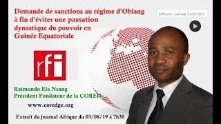 Demande de sanctions au régime d'Obiang à fin d'éviter une passation dynastique de pouvoir