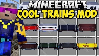 Minecraft TRAIN MOD 1.12.2 - REALISTIC FAST TRAINS!! (Spotlight) Alex Funlord