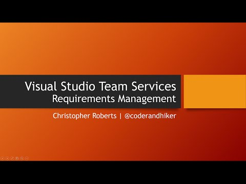 Requirements With Visual Studio Team Services