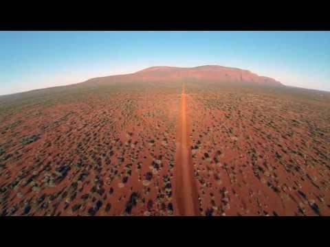 FPV of Mount Augusta in Western Australia