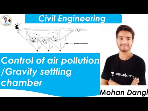 Control Of Air Pollution | Gravity Settling Chamber | Air Pollution | Environmental Engineering |