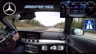 Schnelle Autobahnfahrt im AMG E43