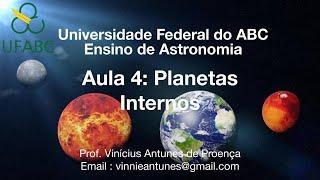 Aula 4 - Planetas Internos