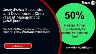 Successfactors succession and development helps you identify, develop, retain the talent need to ensure your future success. our cloud-based software...