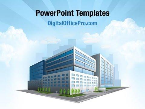 modern office building powerpoint template backgrounds, Modern powerpoint