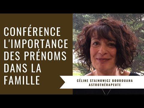 Conférence Sur Les Prénoms, L'importance Des Prénoms Dans La Famille