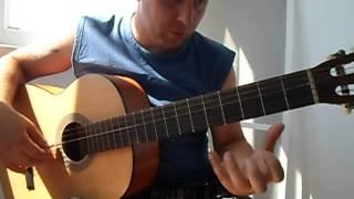 Уроки гитары.Очень простая испанская мелодия
