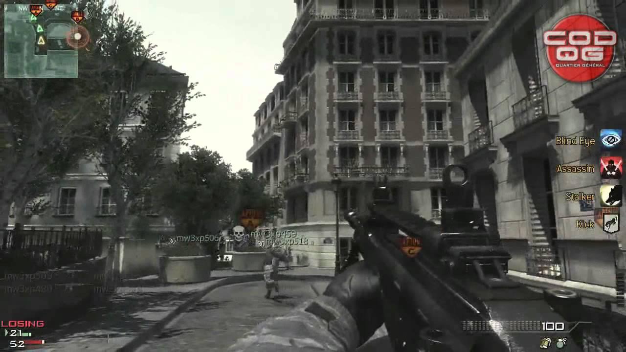 PARIS Modern Warfare Gameplay MW Multiplayer Killstreak - Modern map of paris