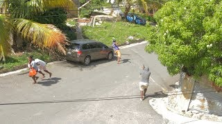 This Happen At Buff Bay Jamaica While He Was Approaching His Car