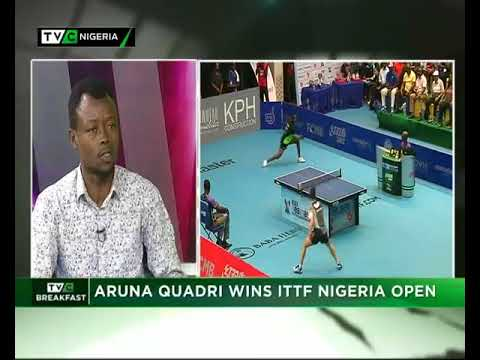 TVC Breakfast 14th August, 2018 | Aruna Quadri wins ITTF Nigeria Open