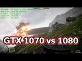 Battlefield 1 - GTX 1070 vs 1080 - 1440p vs 2160p - i7-7700k - Benchmark