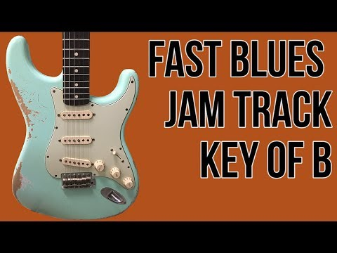 Fast Blues Backing Track In B - Blues Jam Tracks