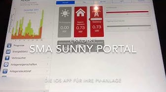 Sunny Portal App für iOS und Android