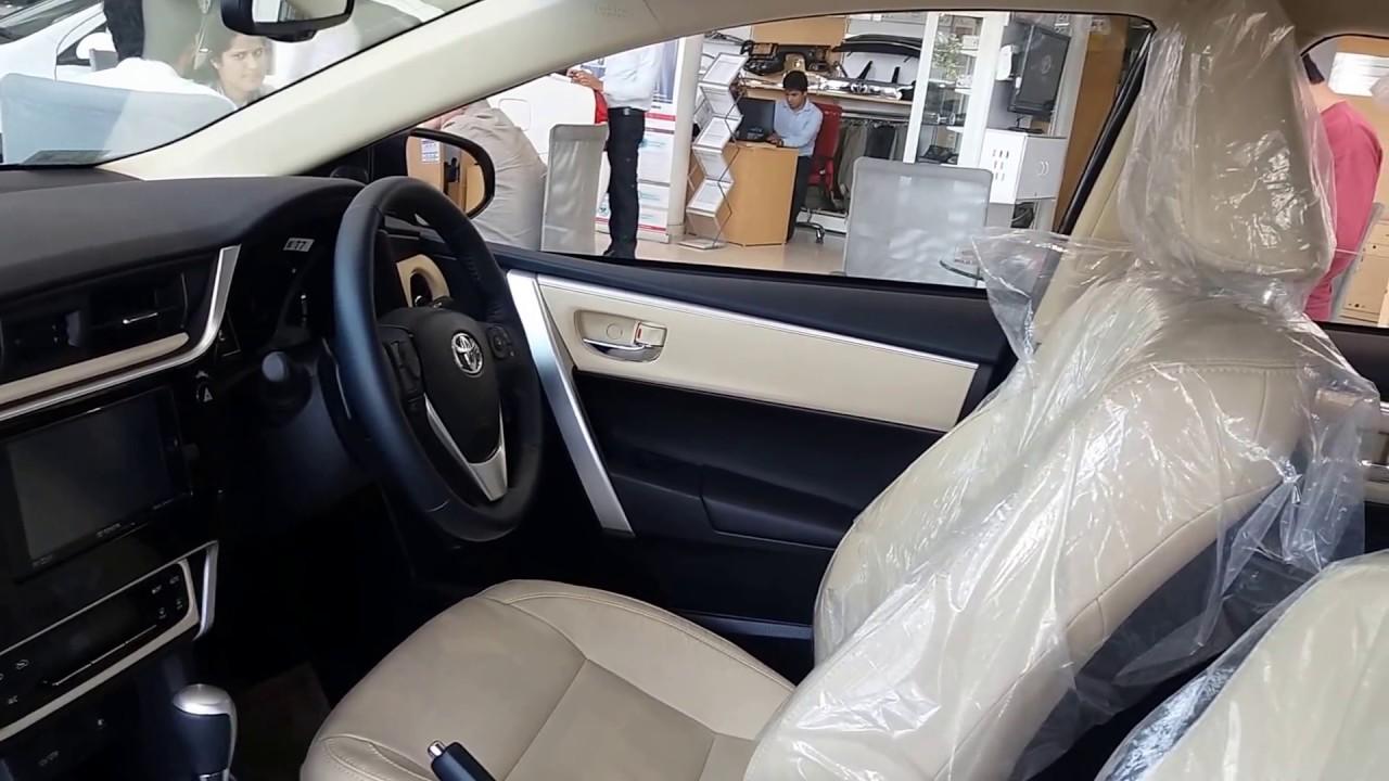Toyota Corolla Altis 2017 Front Interior Video - YouTube