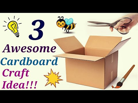 DIY's Room Organizer Idea | Cardboard Crafts!!! DIY Projects || Art and craft for kids/Summer craft.