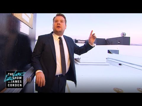 Thumbnail: James Corden Gets Lost In a Stairwell