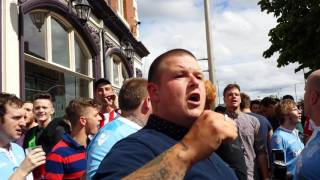 Stoke fans at middlesbrough doctor browns pub 13.8.16