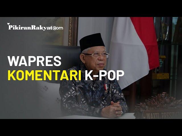 Wapres Ma'ruf Amin: K-Pop Menginspirasi Kreativitas Anak Muda Indonesia