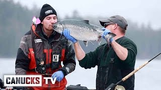 Sven Baertschi Catches His 1st Ever Fish