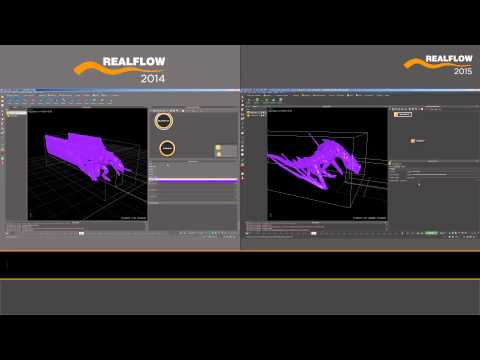 RealFlow 2015 Features: Hybrido Collisions