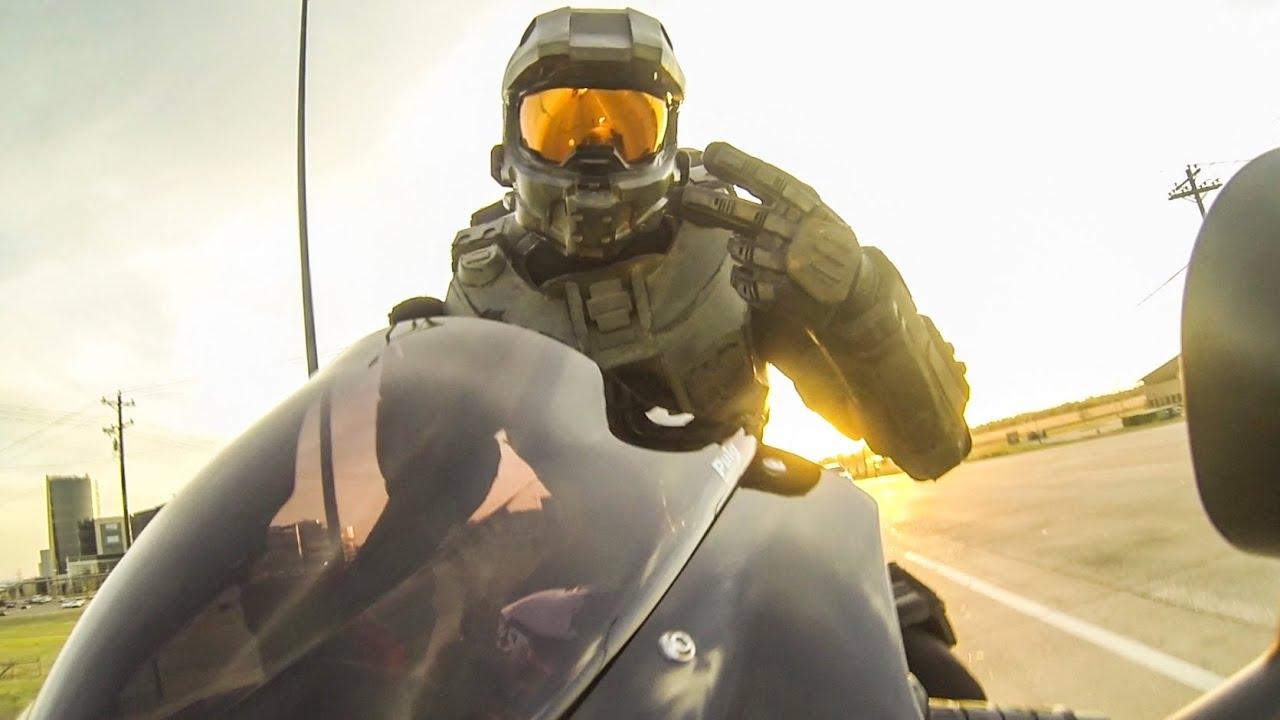 Halo master chief motorcycle helmet