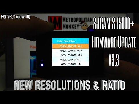 SJCAM SJ5000+ Firmware Update V33  NEW UI & 2K