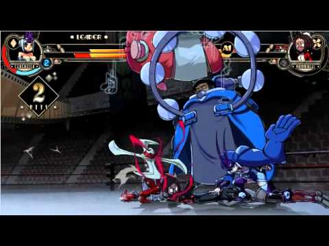 Skullgirls Japanese expert player's match ginger_pp(EL BB CE) vs vierful(PW BB PA)
