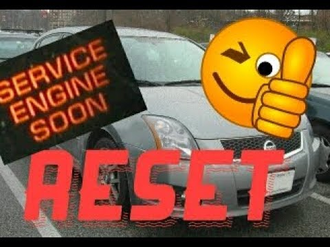 2010 Nissan Sentra Service Engine Soon Light Reset