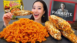 NEW! Nuclear Elote Corn Noodles + Spicy Elotes MUKBANG