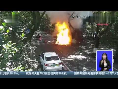 电瓶车起火与锂电池有关!7岁女孩伤情极其危重(组图/视频)